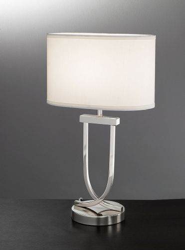 Franklite TL870 Chrome Table Lamp (Class 2 Double Insulated)